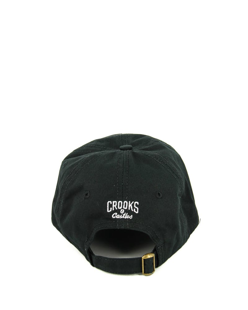 Crooks & Castles Cocaine & Caviar Dad Hat Black