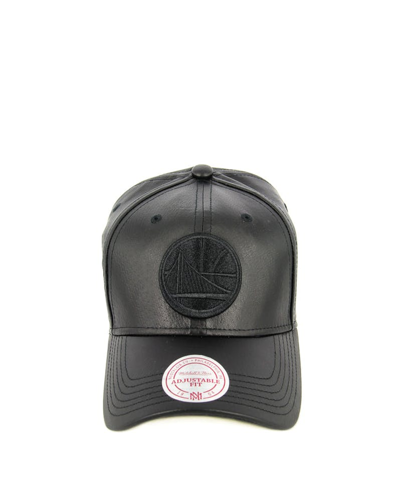 Mitchell & Ness Women's Warriors Leather Snapback Black