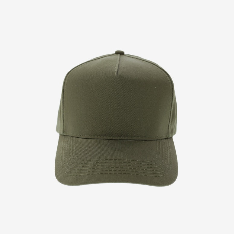 5 Panel Precurved Strapback Olive