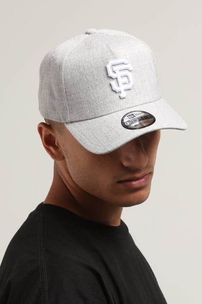 New Era San Francisco Giants 9FORTY A-Frame Snapback Heather Grey