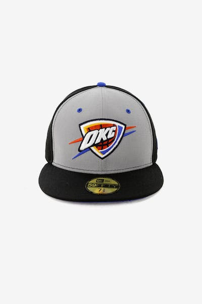 hot sale online c8350 4dd88 New Era Oklahoma City Thunder 59FIFTY Fitted Black