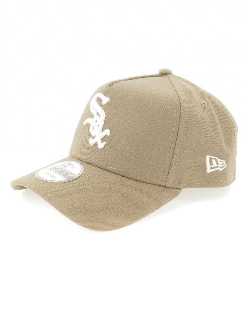 New Era Chicago White Sox 9FORTY A-Frame Snapback Sand/White