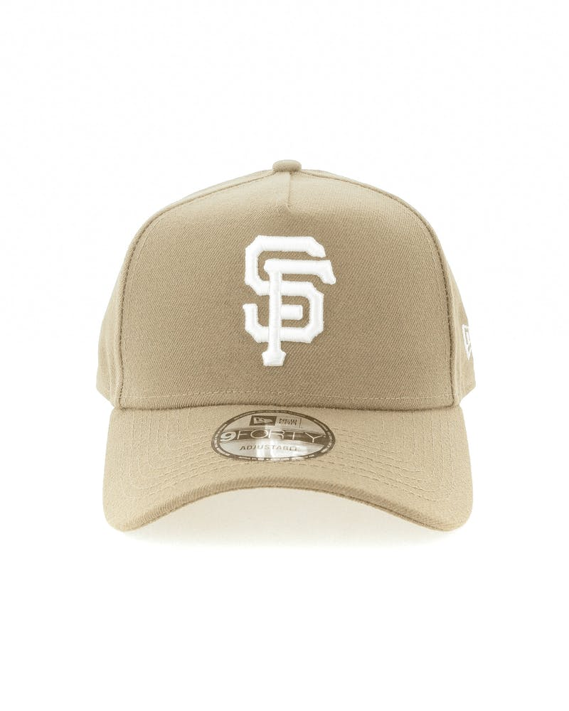 New Era San Francisco Giants 9FORTY A-Frame Snapback Sand/White