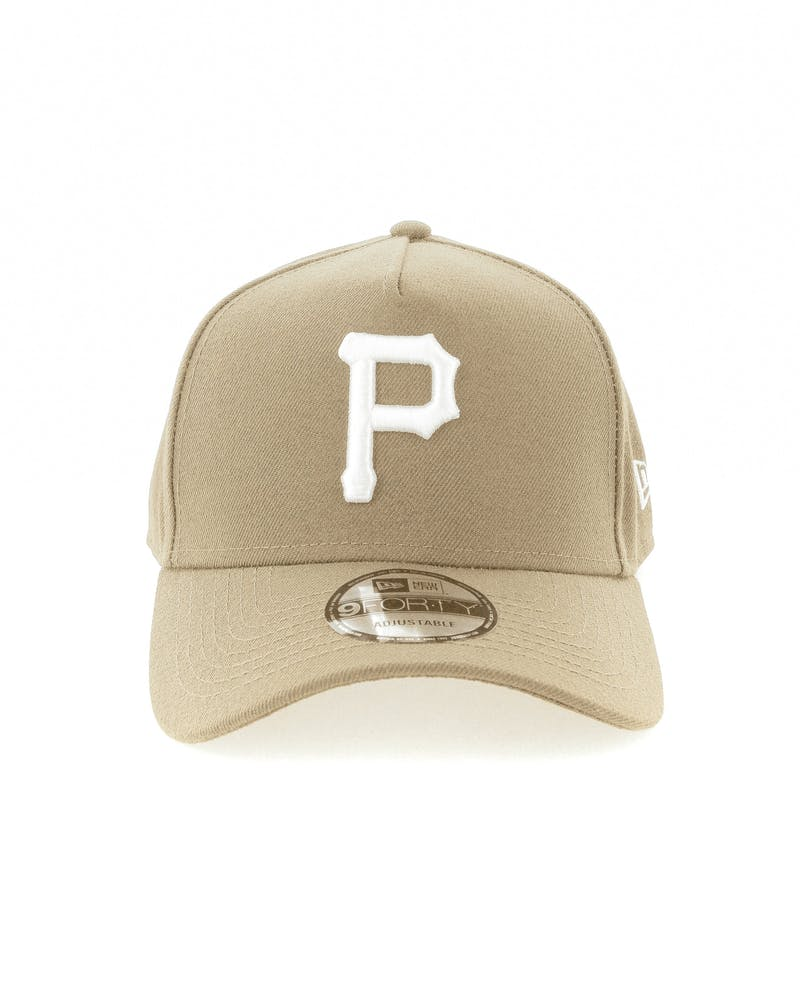 New Era Pittsburgh Pirates 9FORTY A-Frame Snapback Sand/White