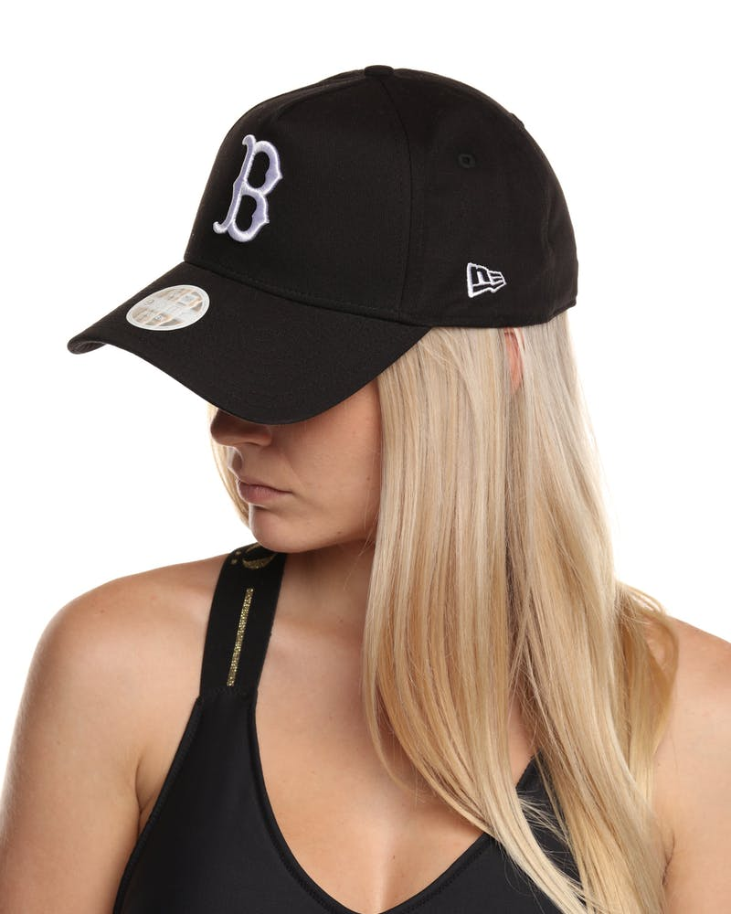 NEW ERA WOMEN'S RED SOX 9FORTY A-Frame SNAPBACK BLACK/WHITE