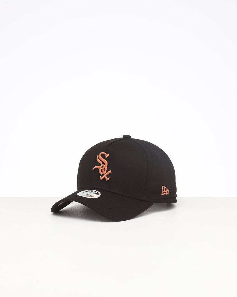 New Era Women's Chicago White Sox 9FORTY A-Frame Strapback Black/Rose Gold