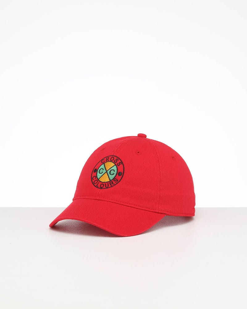 Cross Colours LA Classic Embroidered Dad Hat Red