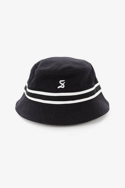 Saint Morta Black Letter Bucket Hat Black/White