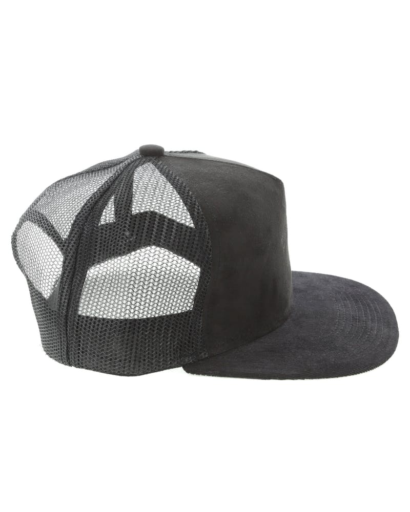 Elevn Clothing Co Suede Stripe Hat Black Suede