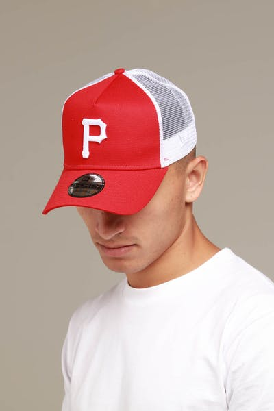 New Era Pittsburgh Pirates 9FORTY A-Frame Trucker Snapback Scarlet/White