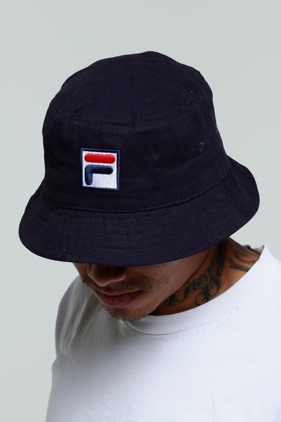 Fila Heavy Brushed Twill Bucket Navy