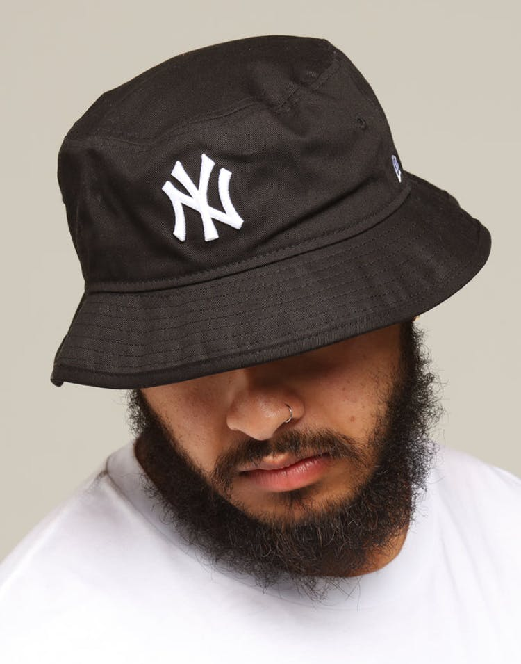 5083764eef237 New Era New York Yankees Bucket Hat Black/White – Culture Kings US