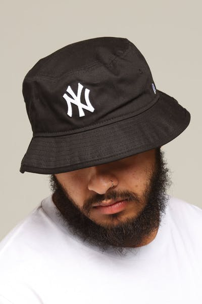 f6bc62004 New Era New York Yankees Bucket Hat Black/White ...