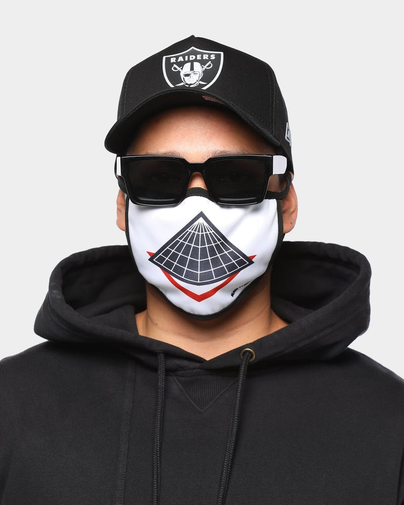 Black Pyramid Unisex Pyramid Logo Face Mask White