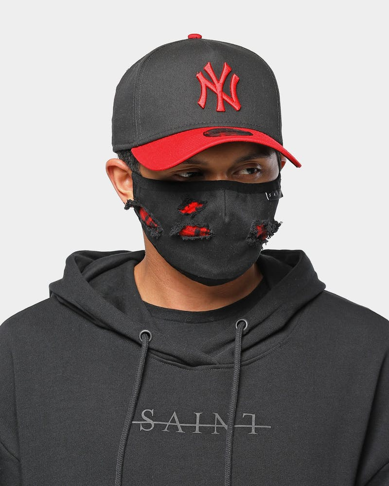 Saint Morta Unisex Tarta Filter Face Mask Black/Red