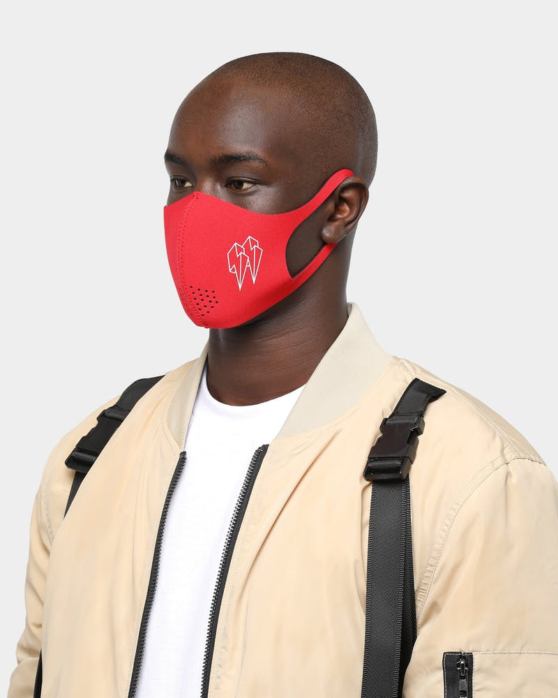 EN ES Neoprene Guard Face Mask Red