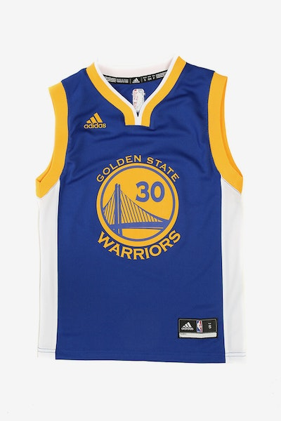 Adidas Warriors Home Youth Jersey Curry 30 Blue