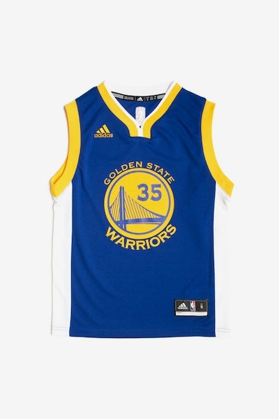 Adidas Golden State Warriors Road Youth Jersey Kevin Durant #35 Blue