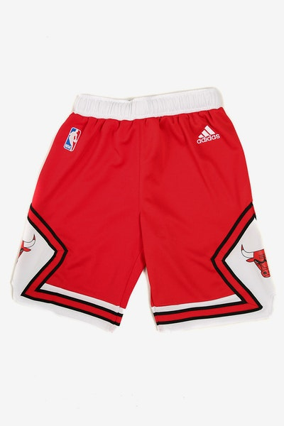 Adidas Bulls Replica Road Youth Shorts Red