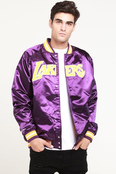 Mitchell & Ness Los Angeles Lakers Lightweight Satin Jacket Purple