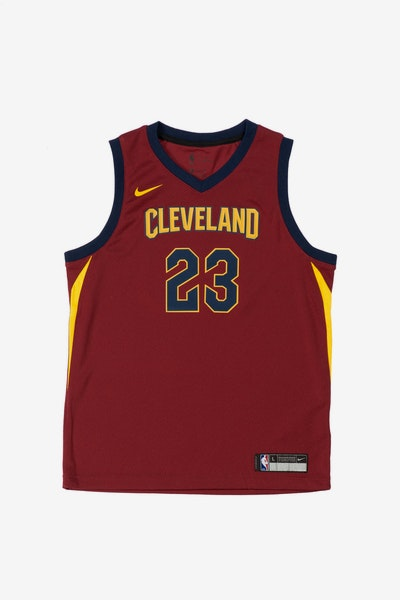 LeBron James #23 Nike Icon Edition Youth Swingman Jersey Burgundy