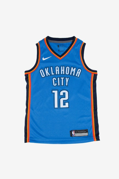 Steven Adams #12 Nike Icon Edition Youth Swingman Jersey Blue