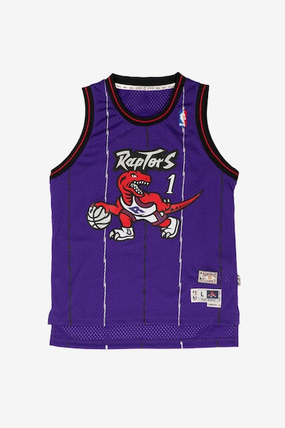 Youth Toronto Raptors Tracy McGrady Hardwood Classics Swingman Jersey Purple
