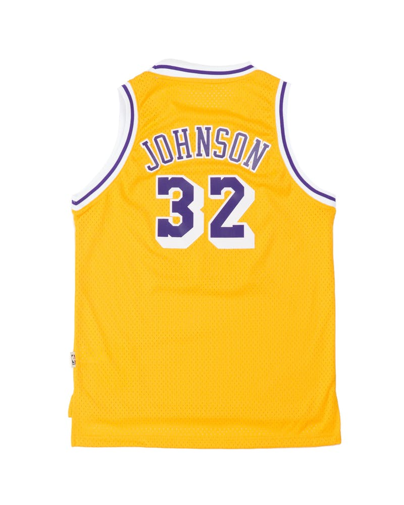 Youth Los Angeles Lakers Magic Johnson Hardwood Classics Swingman Jersey Gold
