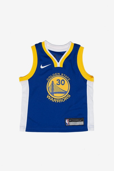 Toddler Stephen Curry #30 Golden State Warriors Nike Replica Jersey Icon Edition Blue