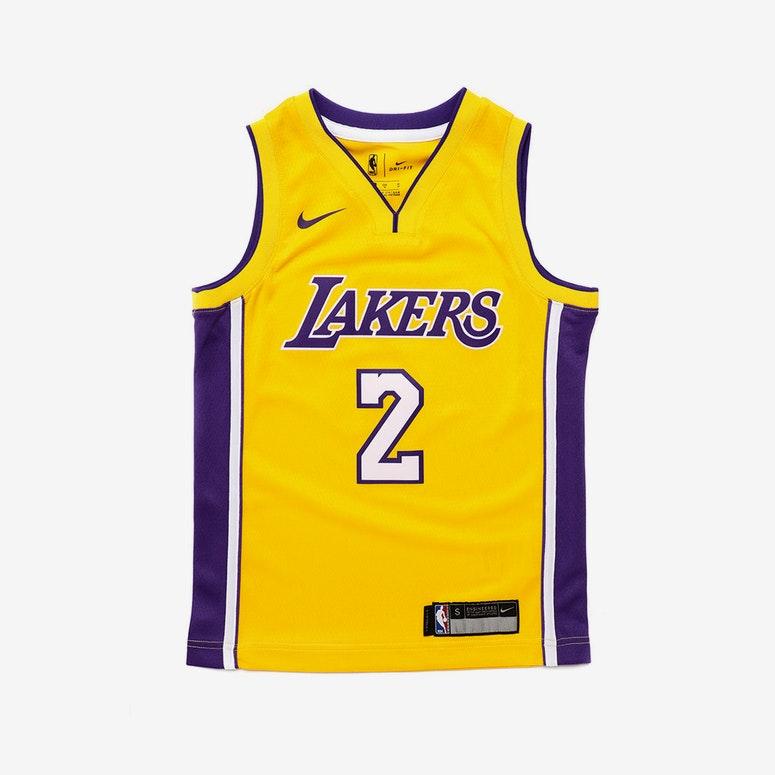 buy online 1eb1d f7587 Lonzo Ball #2 Nike Icon Edition Kids Swingman Jersey Yellow