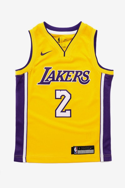 Lonzo Ball #2 Nike Icon Edition Kids Swingman Jersey Yellow
