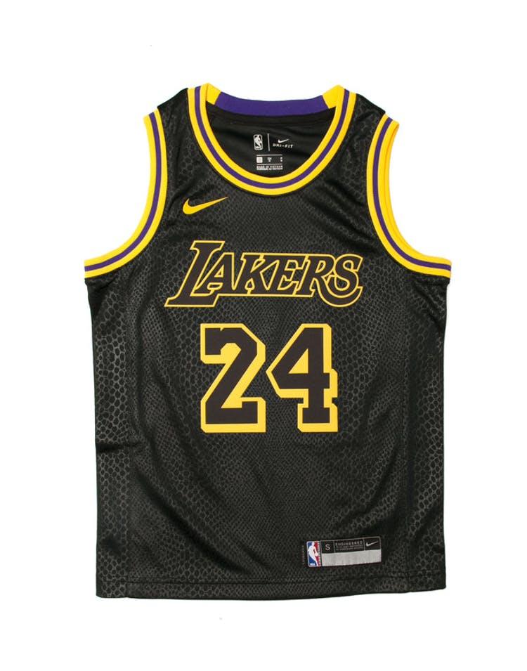 5f9fd4172 Kobe Bryant  24 Nike City Edition Youth Swingman Jersey Black ...