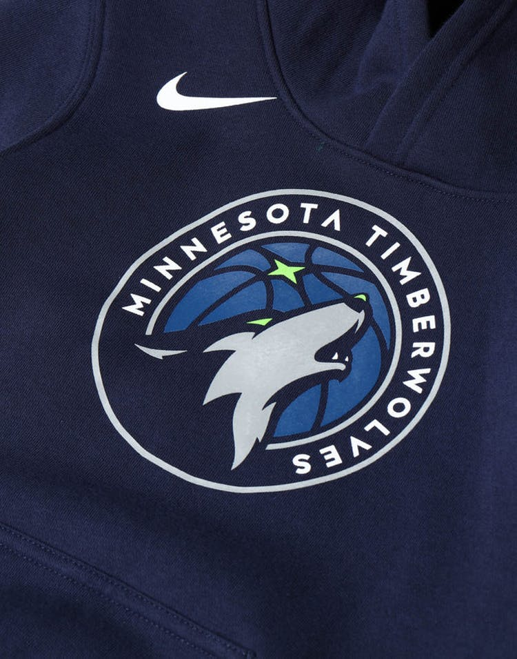 exclusive range 100% quality lower price with Nike Kids Minnesota Timberwolves Logo Essential Pull Over Hood Navy