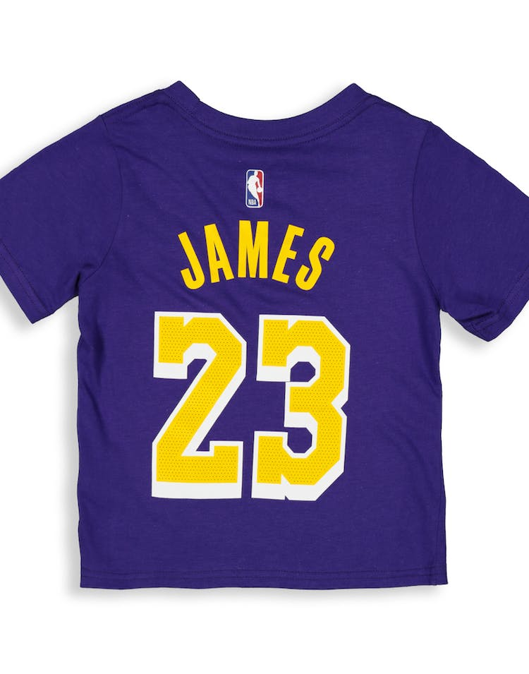 competitive price 4e23d 4e90d Nike Toddler Los Angeles Lakers LeBron James #23 Icon N&N Tee Purple