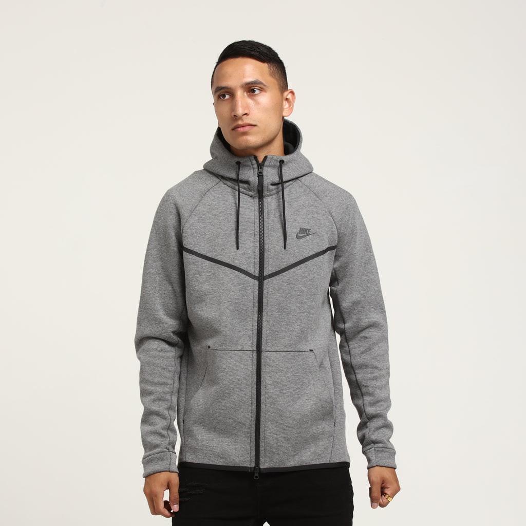 Nike Tech Fleece Windrunner Hood Dark Grey/Black