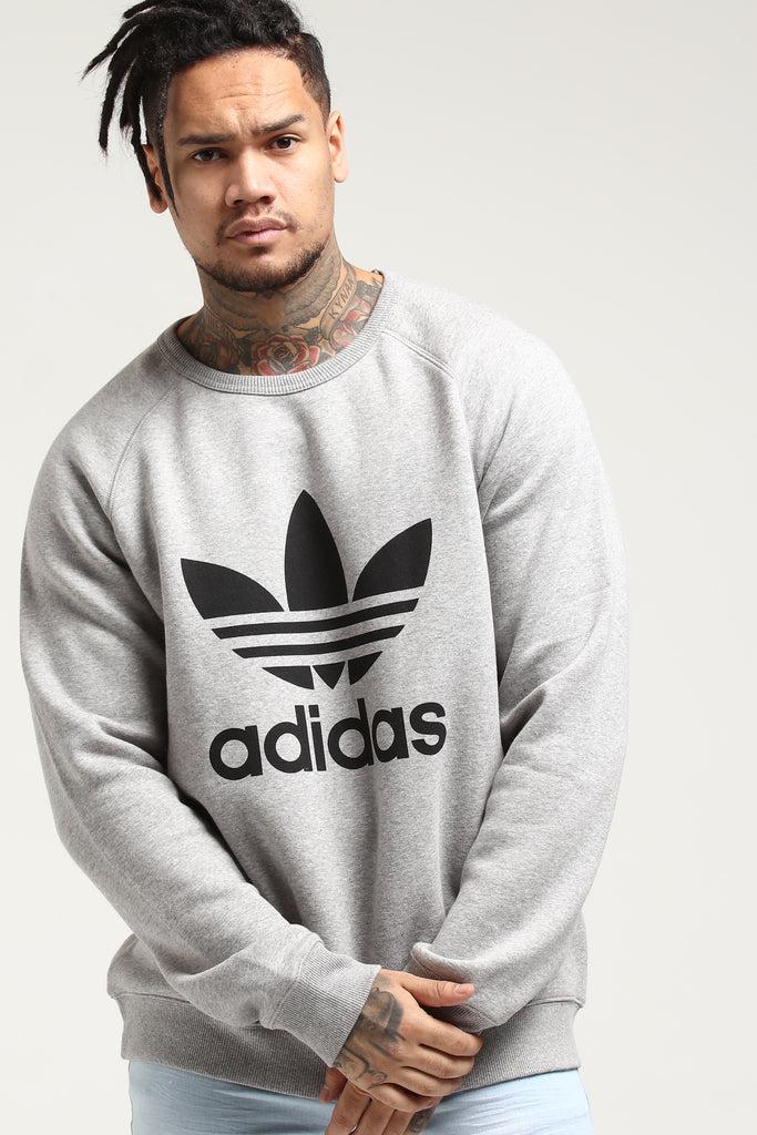 Adidas Originals Trefoil Fleece Crew Grey