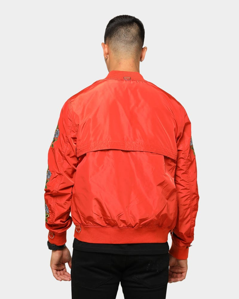 Lifted Anchors Rosa Bomber Jacket Orange