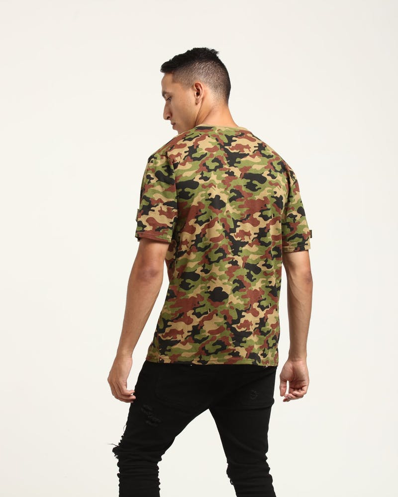 Dxpe Chef Military Patches Tee Camo