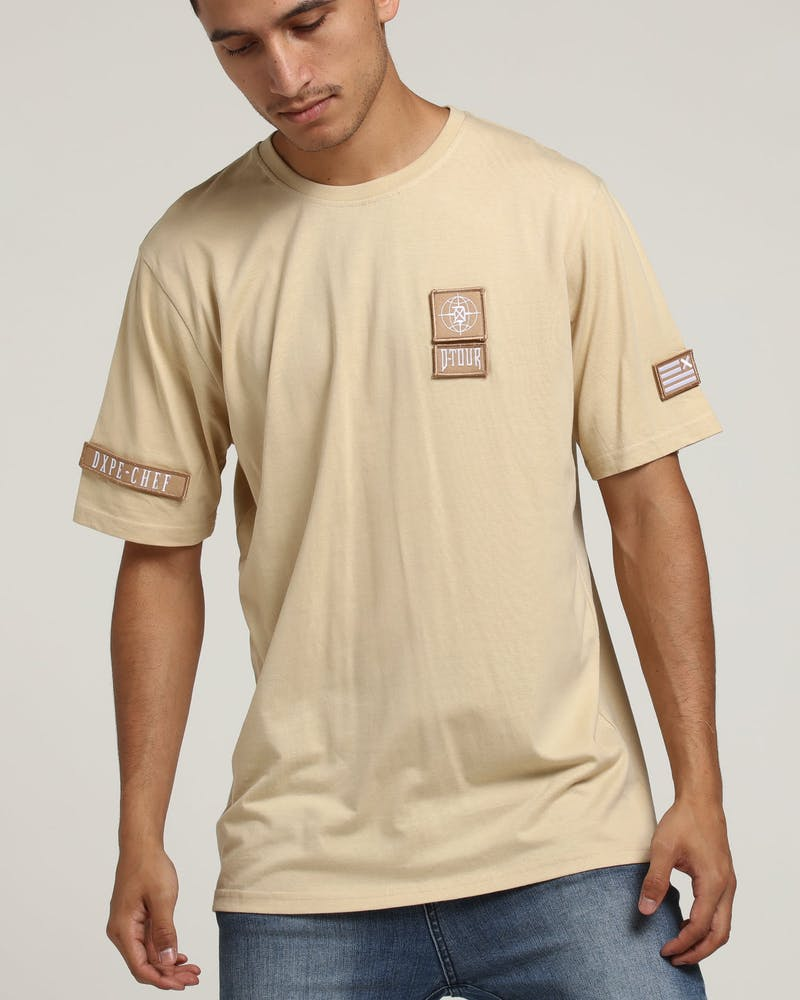 Dxpe Chef Military Patches Tee Sand