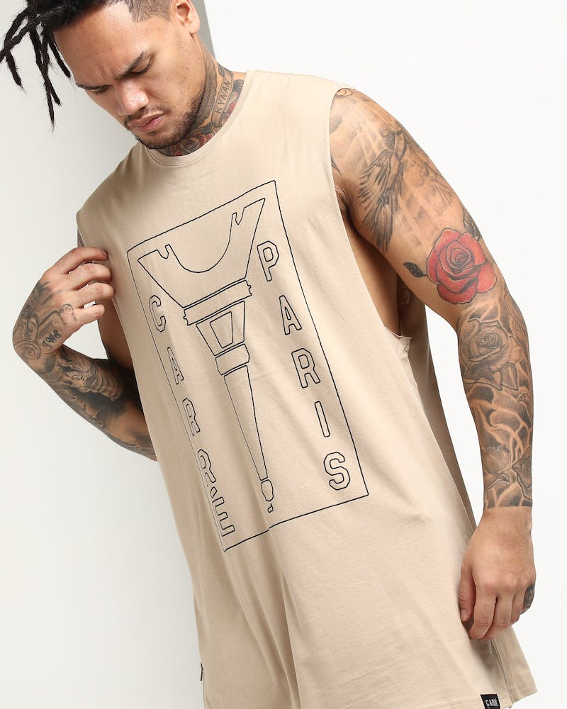 Carré Blueprint Capone Muscle Tee Stone