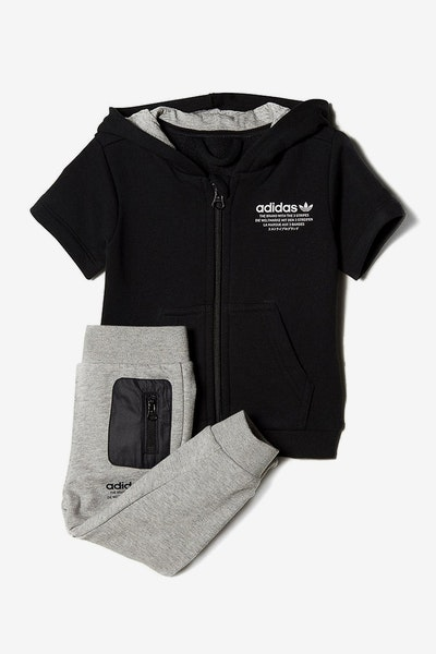 Adidas Originals Infant NMD Hooded Flock Set Black/Grey