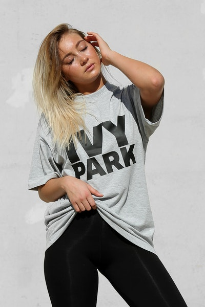 Ivy Park Logo Tee Light Grey