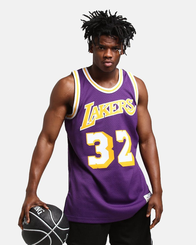 Mitchell & Ness Los Angeles Lakers Magic Johnson #32 Swingman Jersey Purple/Gold