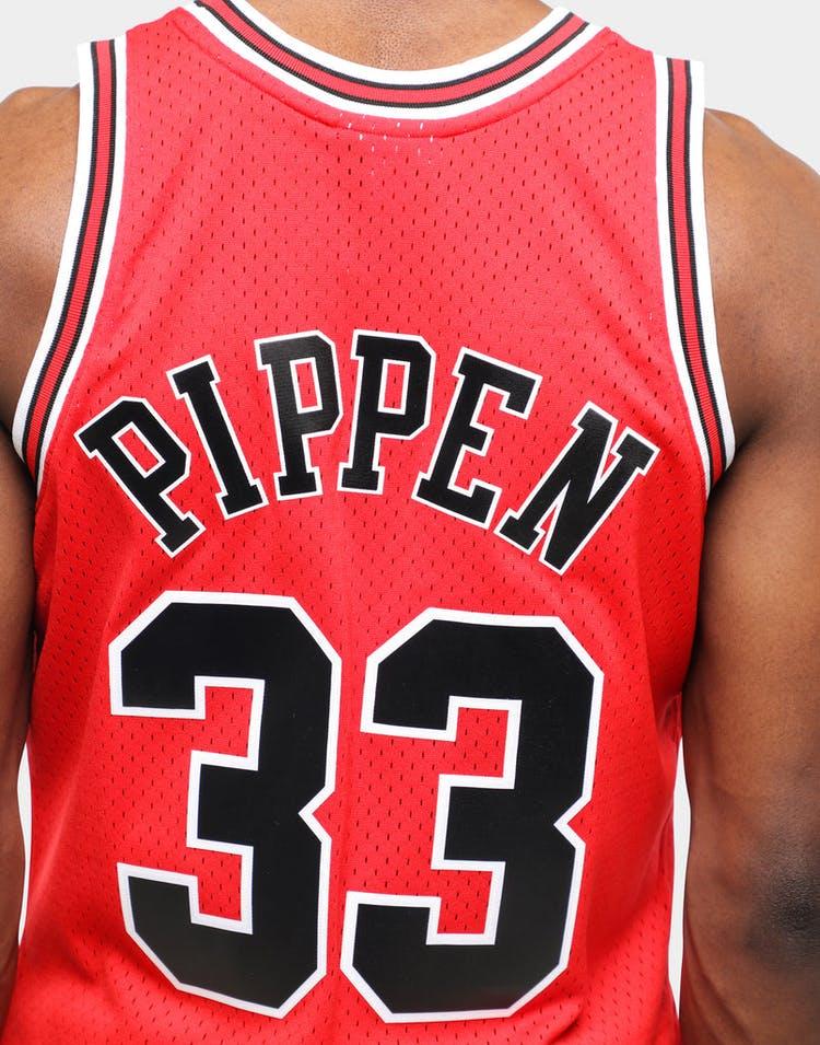 info for 68db5 96952 Mitchell & Ness Chicago Bulls Scottie Pippen #33 Swingman Jersey Red/Black