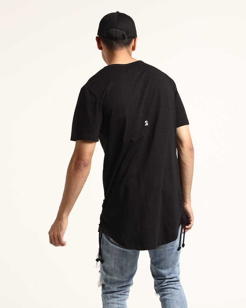 Saint Morta Classic Rope Panel Tee Black