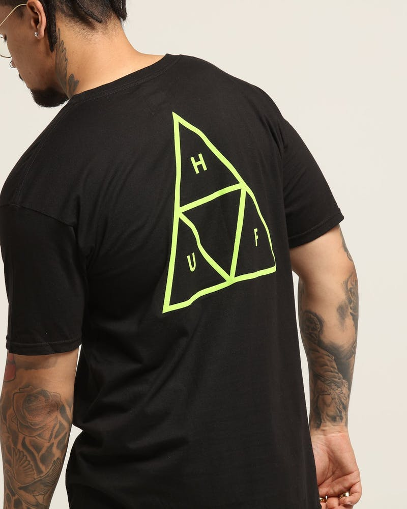 Huf Triple Triangle Tee Black/Green