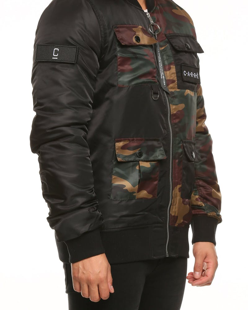 Carré Tactique Bomber Black/Camo