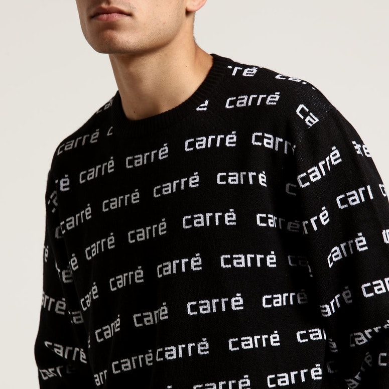 Carré Viera Knitted Jersey Crew Black