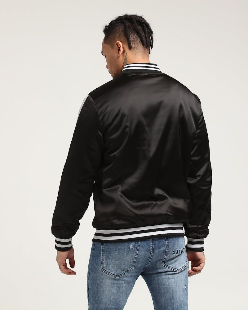 New Slaves Varsity Bomber Jacket Black/Grey