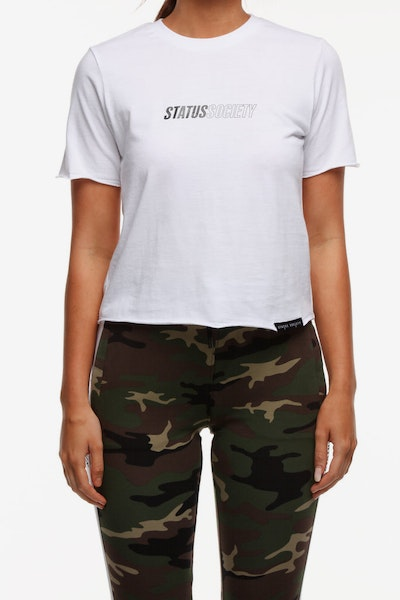 Status Society Stabile SS Tee White